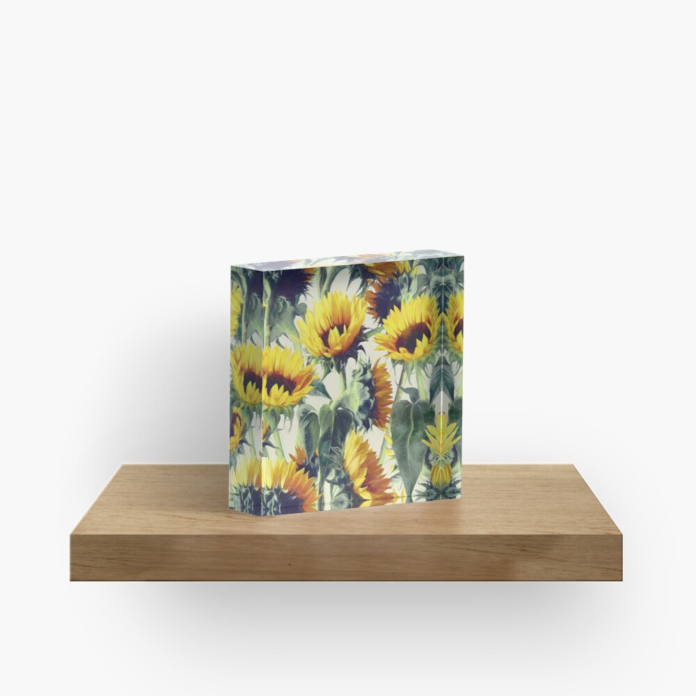 Sunflowers Forever Acrylic Block
