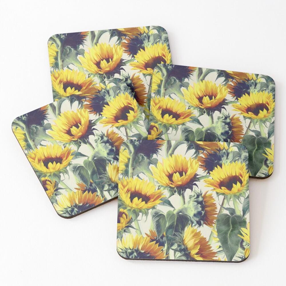 Sonnenblumen für immer Untersetzer (4er Set)