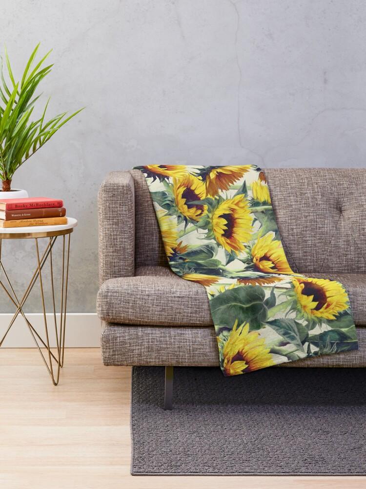Alternate view of Sunflowers Forever Throw Blanket