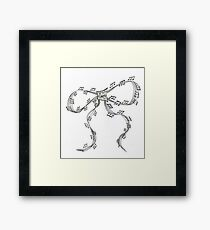 Ribbon Music Framed Print