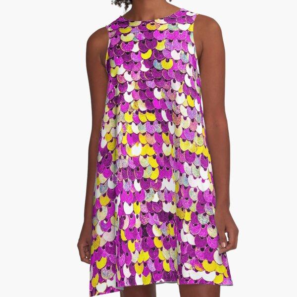 Funky Sequins A-Line Dress
