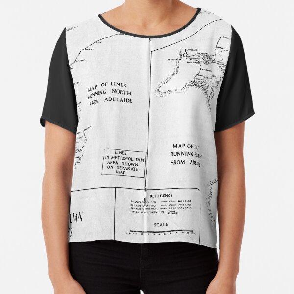 SAR 1974 Map Chiffon Top
