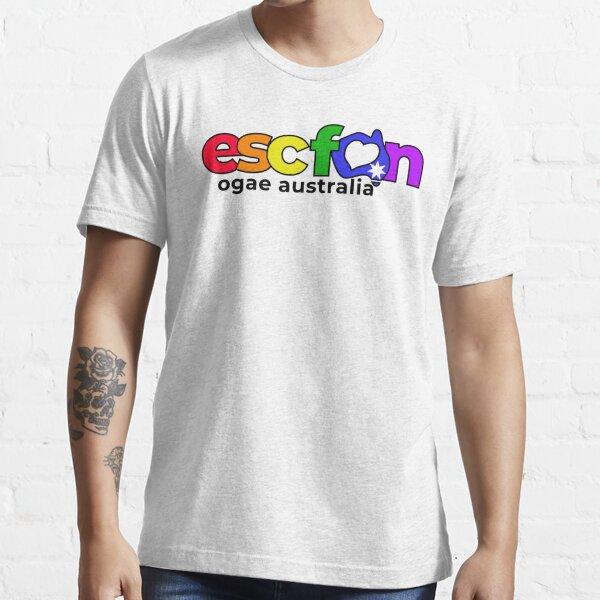ESCFAN -OGAE Australia Logo (Pride, Black) Essential T-Shirt
