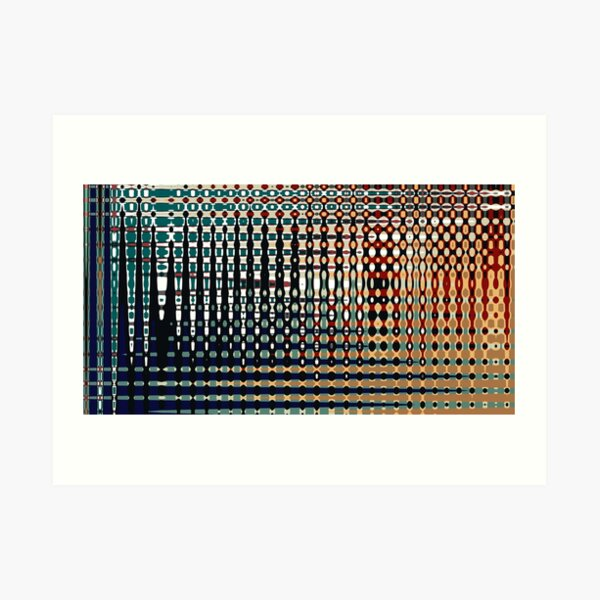 Digital Age Abstract Colourful Pattern - Jenny Meehan Art Print