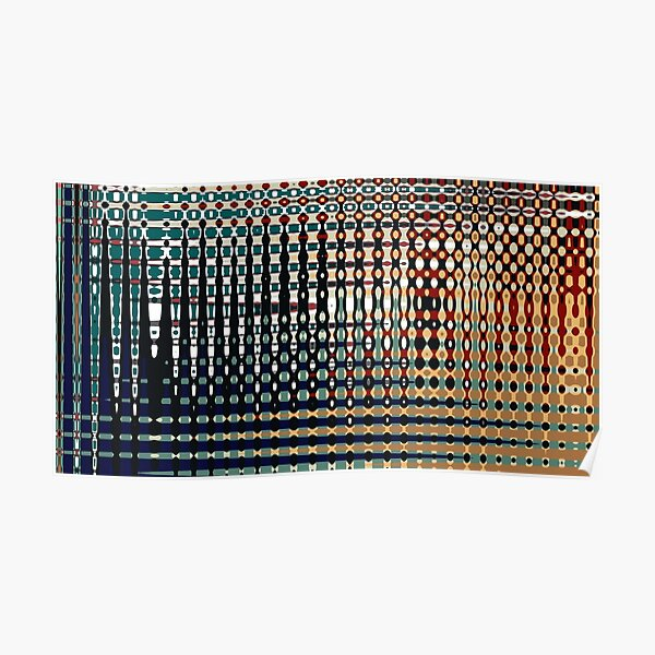 Digital Age Abstract Colourful Pattern - Jenny Meehan Poster