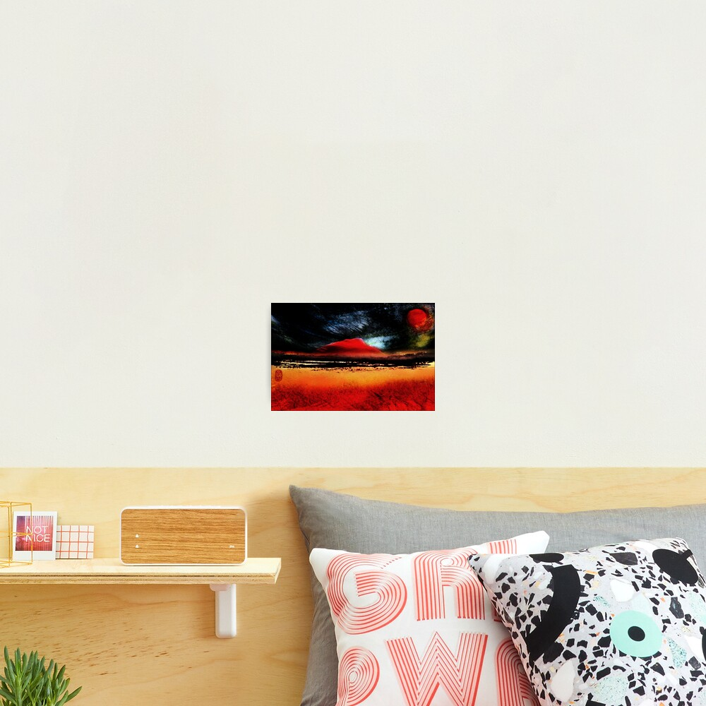 Red Mountains Photographic Print