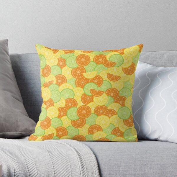 Citrus Splash: Three Slices Throw Pillow