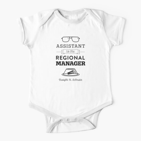 The Office Dunder Mifflin - Assistant to the Regional Manager Short Sleeve Baby One-Piece