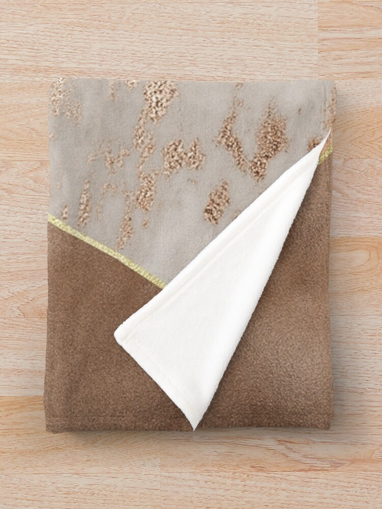 Alternate view of Copper Foil and Blush Rose Gold Marble Triangles Throw Blanket