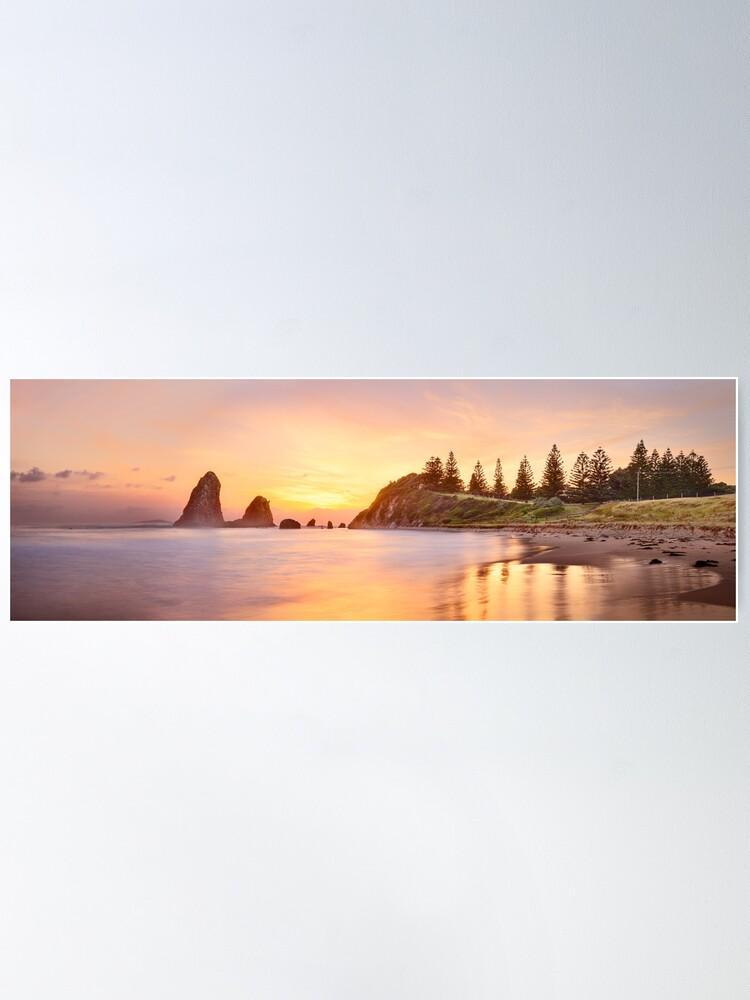 Alternate view of Glasshouse Rocks, Narooma, New South Wales, Australia Poster