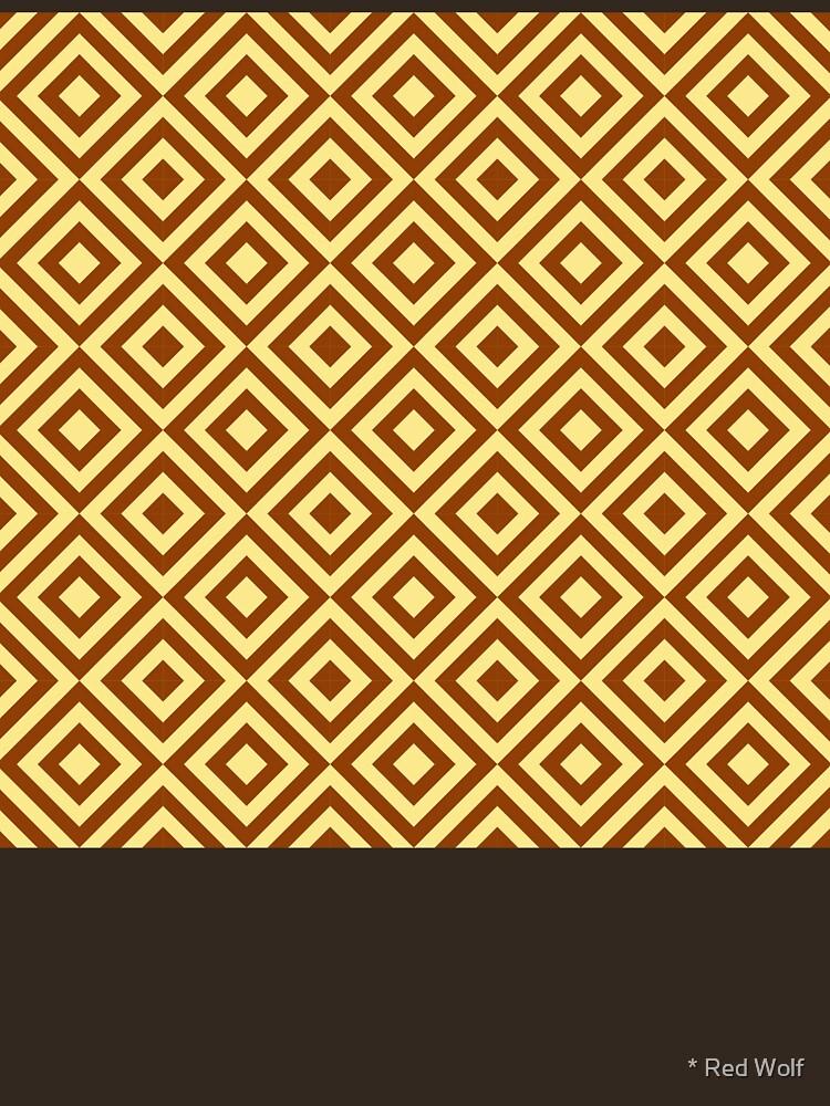 Geometric Pattern: Diamond Strobe: Brown by redwolfoz