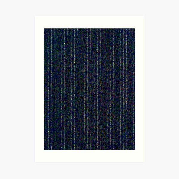 dotty pinstripe Art Print