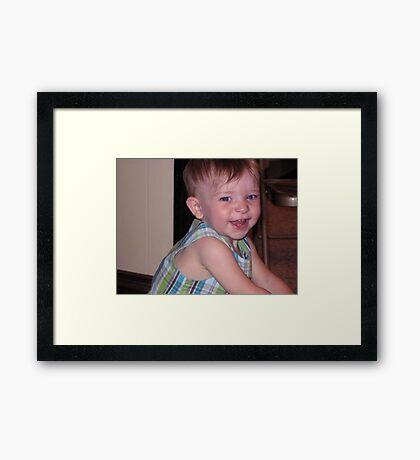 What A Darling Boy! Framed Print