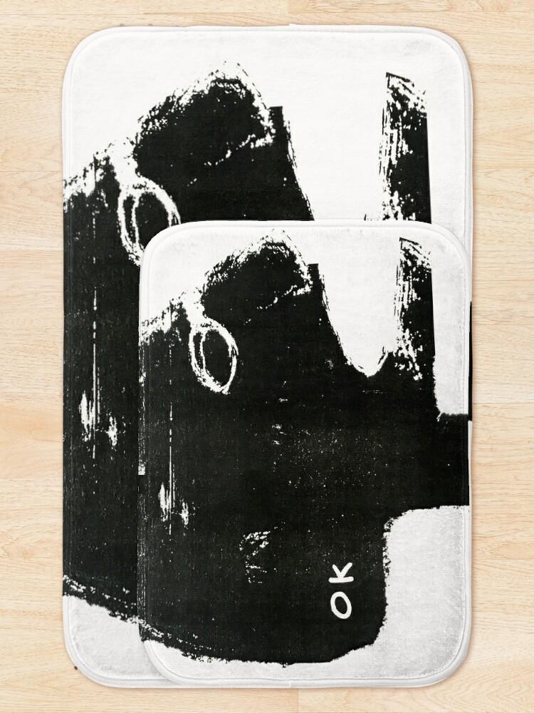 Alternate view of OK monochrome illustration Bath Mat