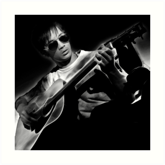 While My Guitar Gently Weeps by John Poon