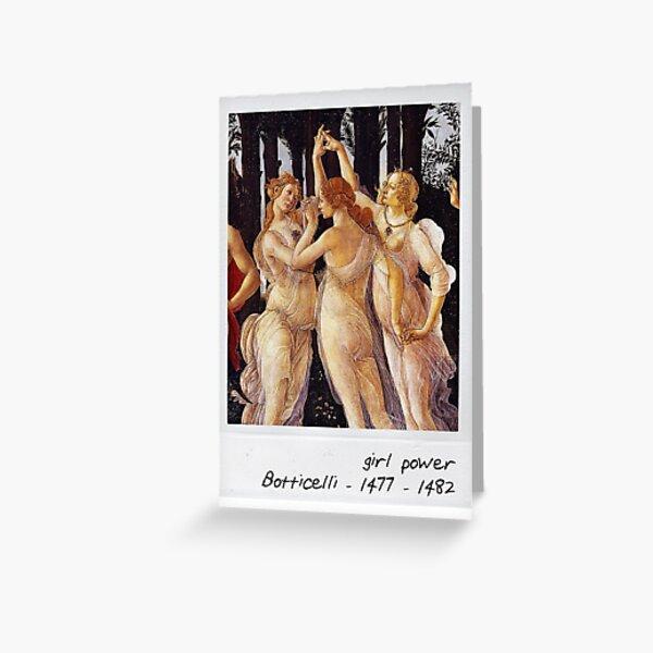 botticelli - girl power Greeting Card