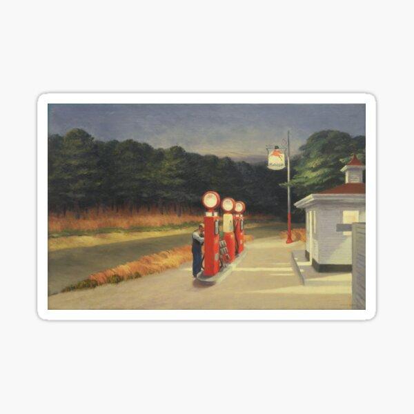 1940s Gas Pump - Edward Hopper Sticker