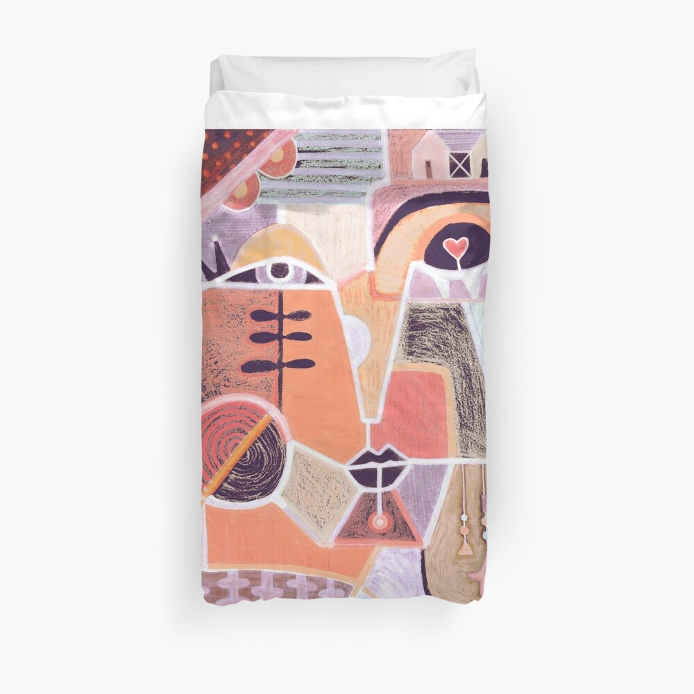 Abstract portrait Duvet Cover