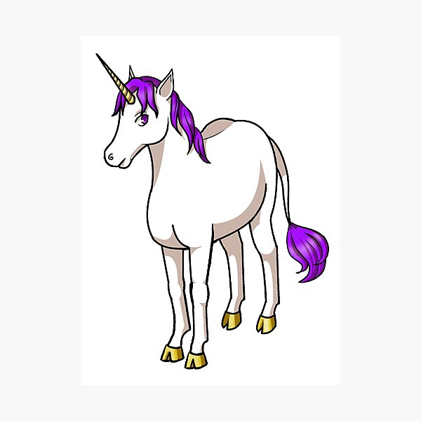 Iten the Purple Unicorn Photographic Print