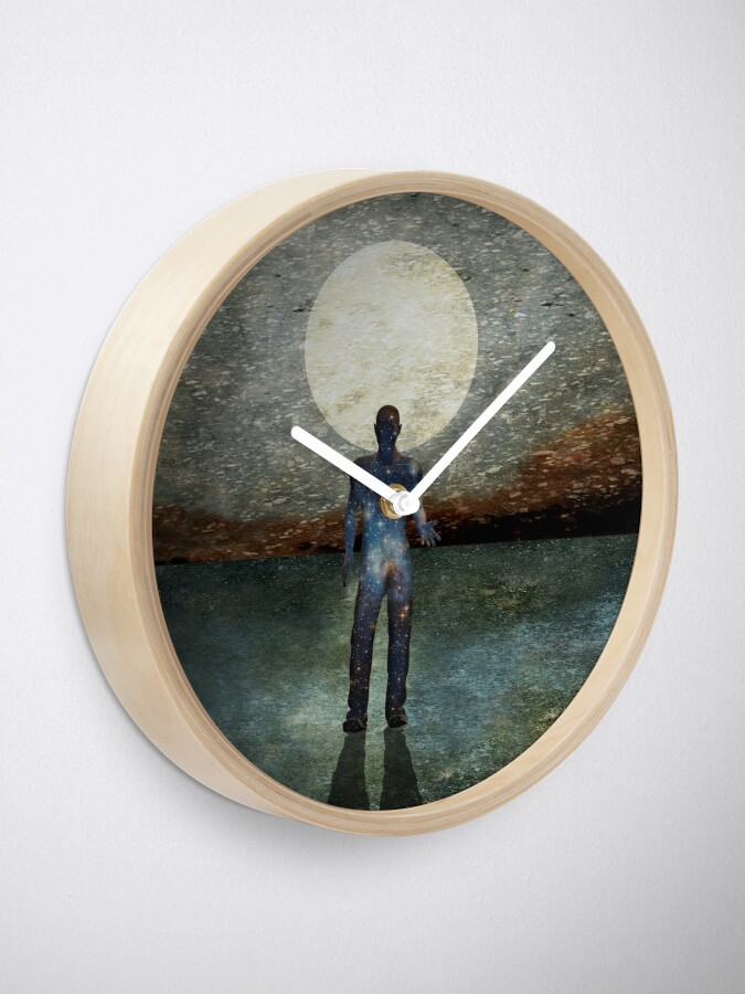 Alternate view of Second State Of Dreams (Full Moon) Clock