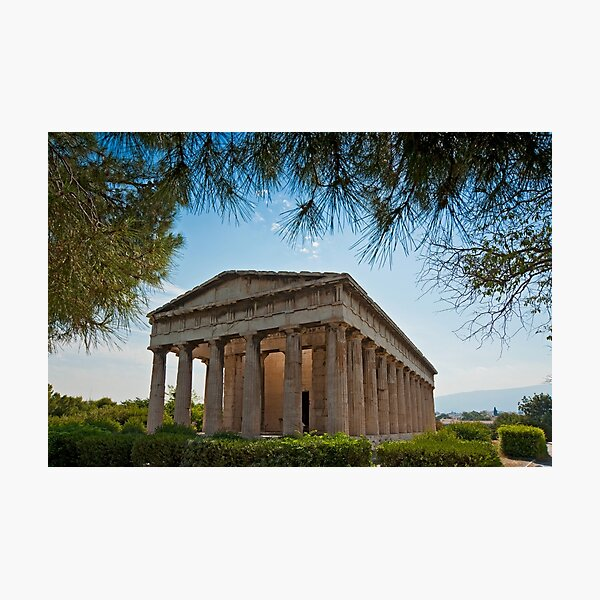 Temple of Hephaestus in Athens, Greece Photographic Print