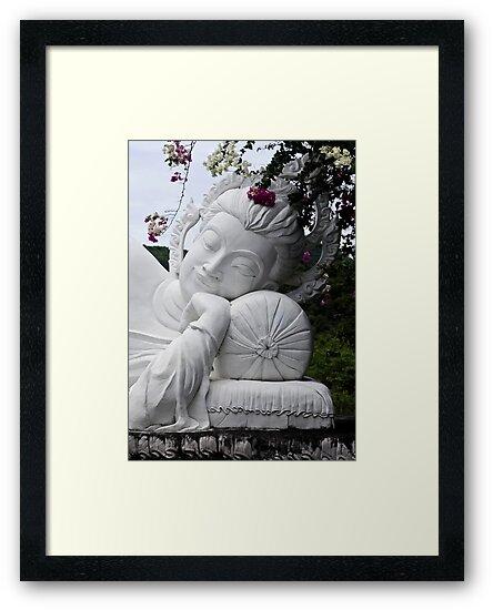 White Reclining Buddha by Dave Lloyd