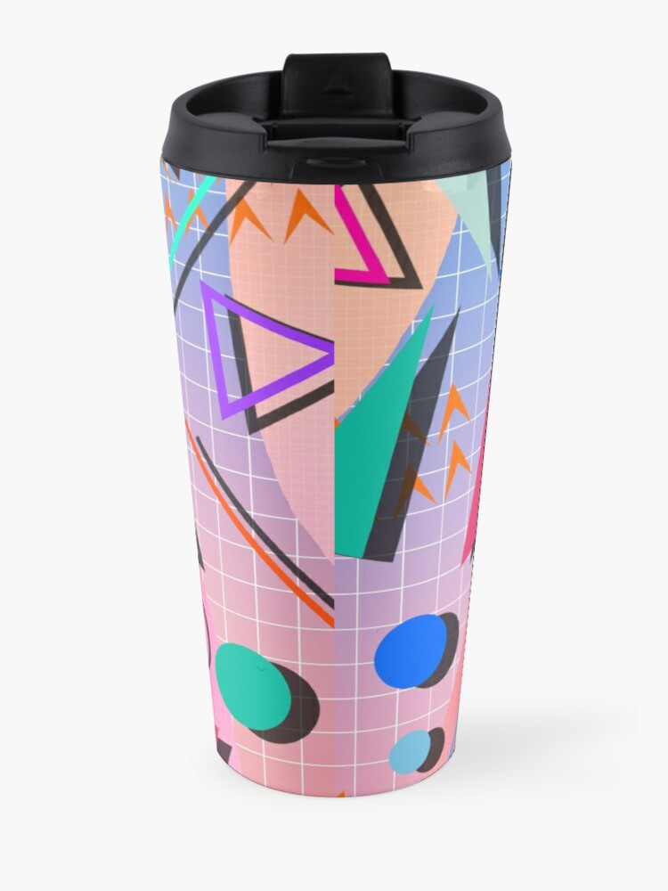 Alternate view of 80s pop retro pattern 2 Travel Mug