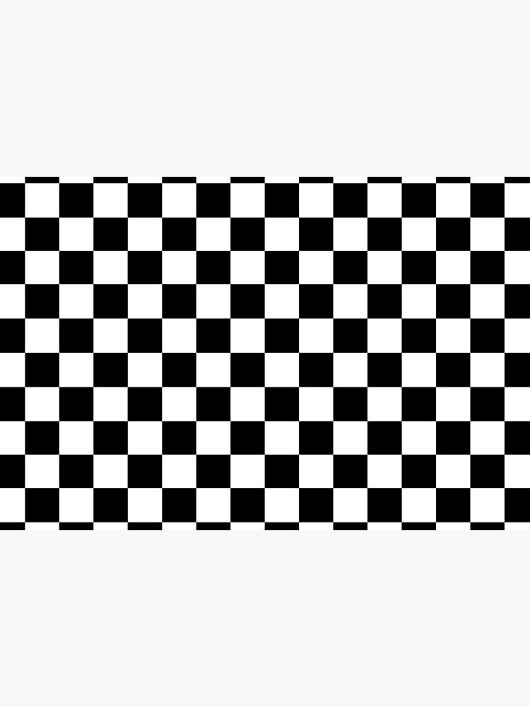CHECK, Pattern, Checks, Checkered, Black & white. by TOMSREDBUBBLE