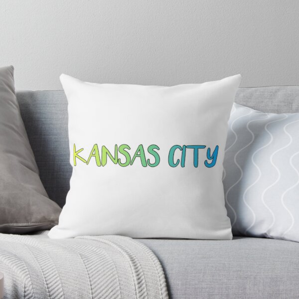 Kansas City Missouri Kansas Throw Pillow