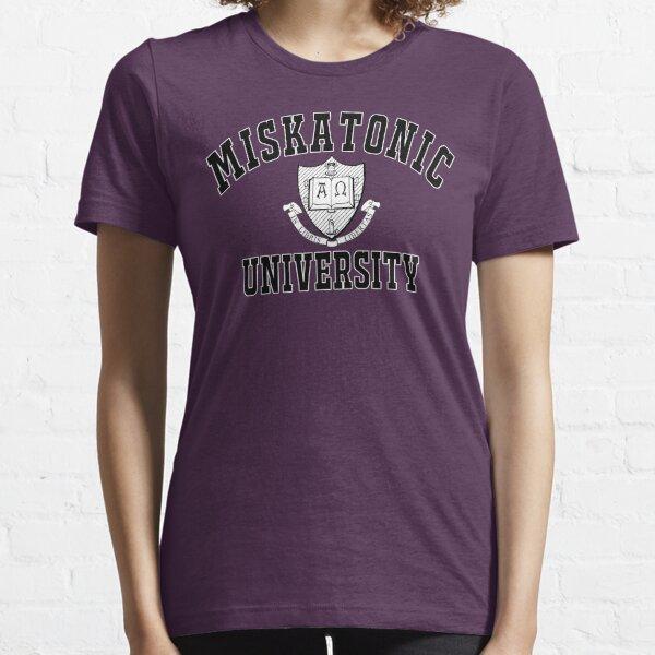 Miskatonic University Black & White Logo Essential T-Shirt