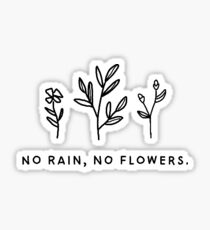 no rain, no flowers Sticker