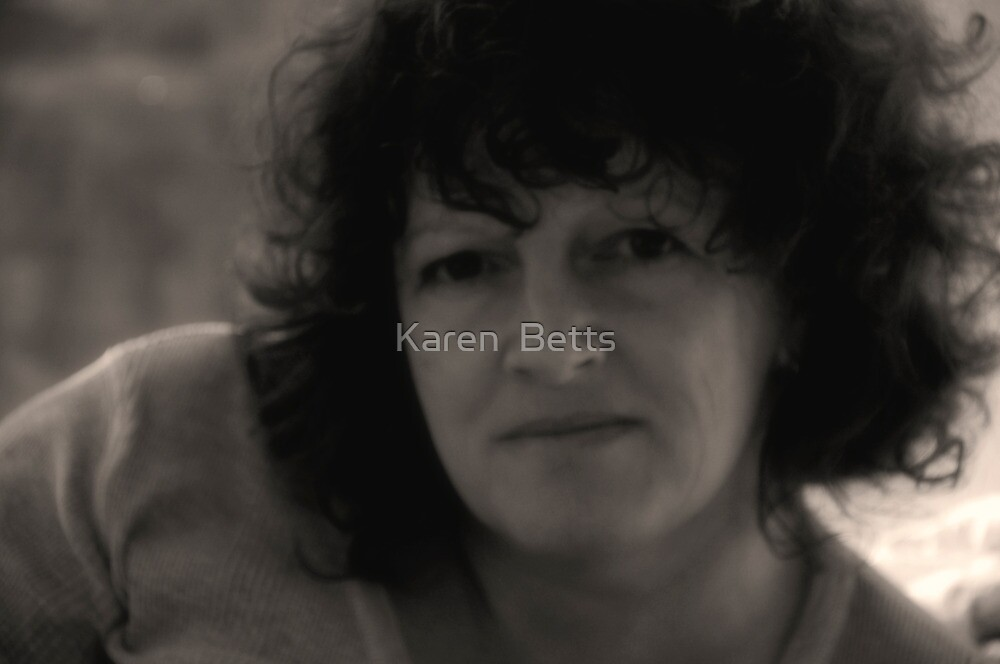 Karen (September Self Portrait B&W) by Karen  Betts
