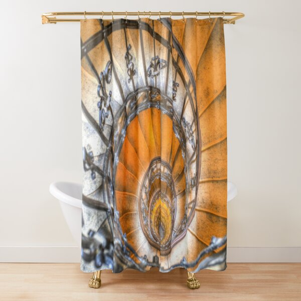 The Spiral Staircase St Stephens Basilica  Shower Curtain