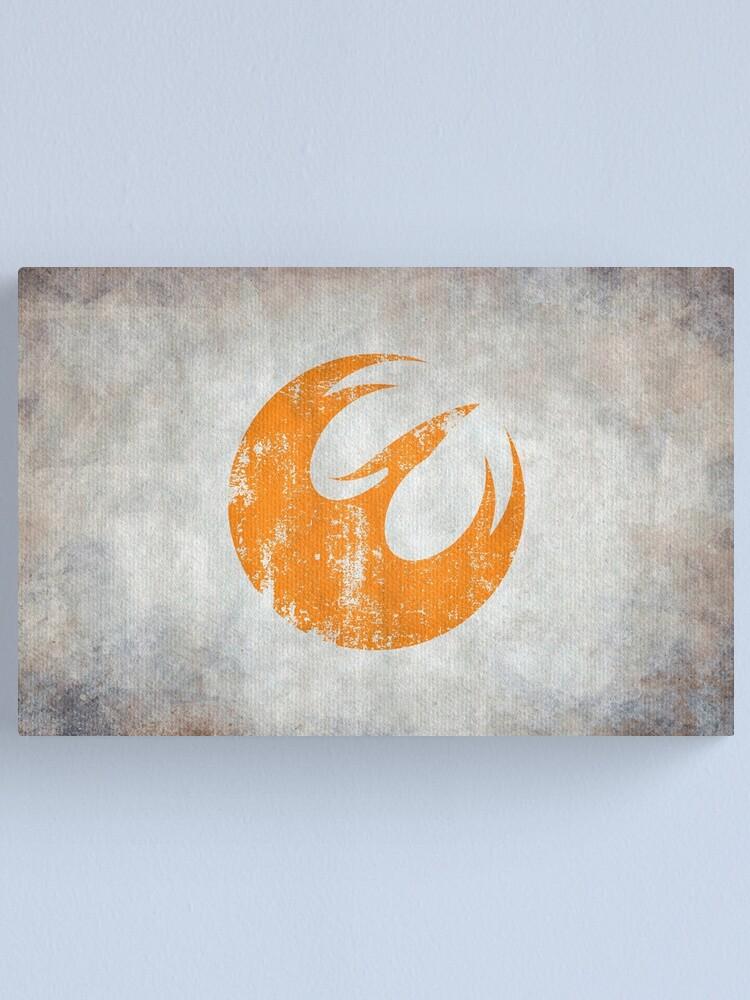 Alternate view of Phoenix Squad Logo · Distressed Canvas Print