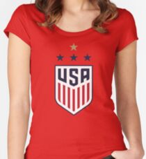 USWNT US Womens National Soccer Team Fitted Scoop T-Shirt