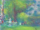 Peaceful Garden (pastel) by Niki Hilsabeck