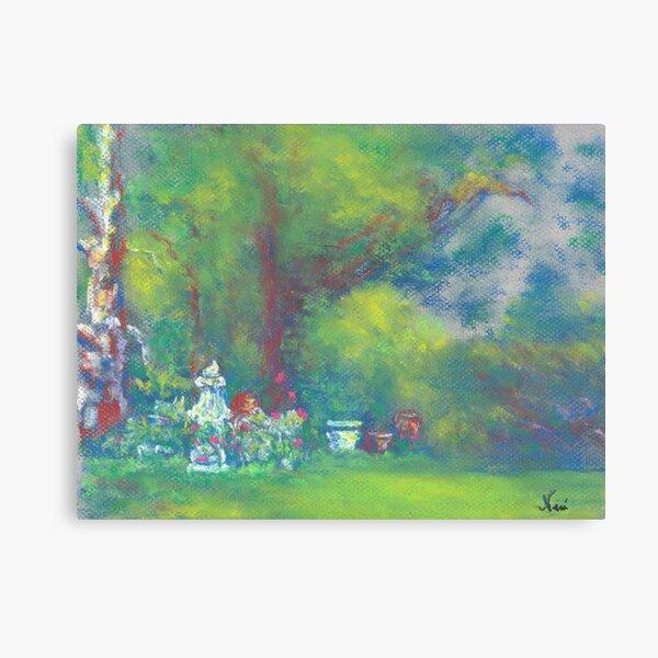 Peaceful Garden (pastel) Canvas Print
