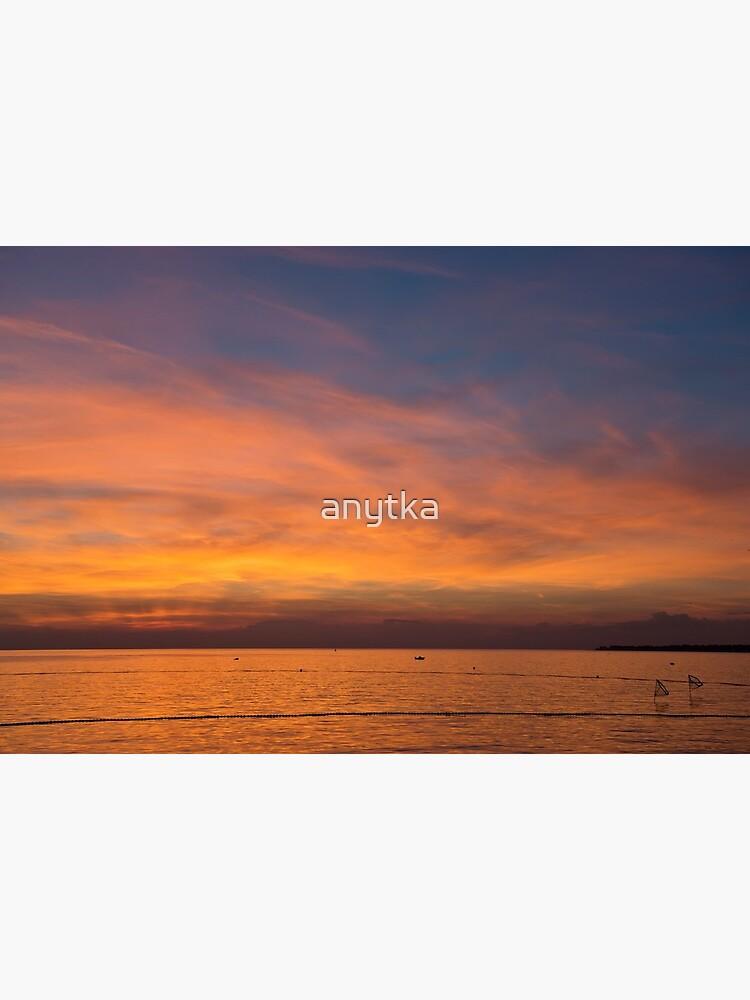 Scenic View Of Beautiful Sunset Above The Adriatic Sea Porec Croatia Art Board Print By Anytka Redbubble