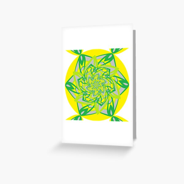 #Abstract, #proportion, #art, #flower, pattern, bright, decoration, kaleidoscope, ornate, creativity Greeting Card