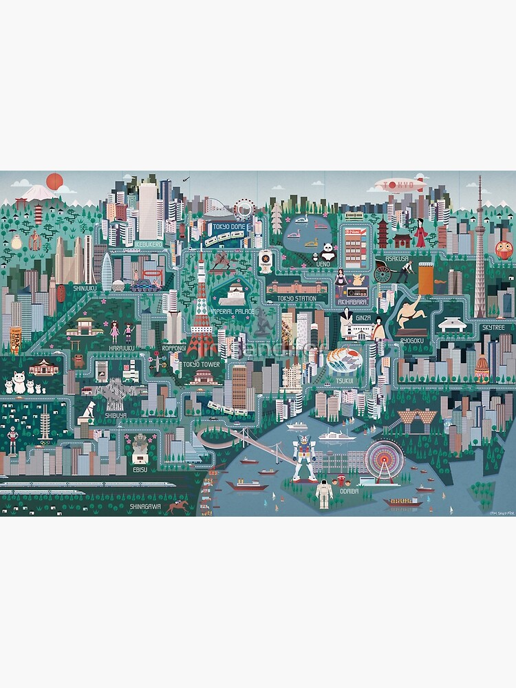 Tokyo Illustrated Map by jimsandifer