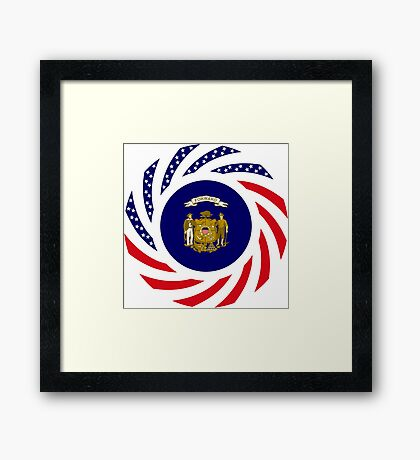 Wisconsin Murican Patriot Flag Series Framed Print