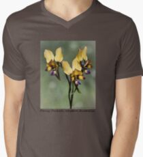 Pansy Orchid Mens V-Neck T-Shirt