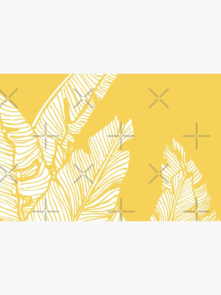 Banana Leaves on Yellow by designdn