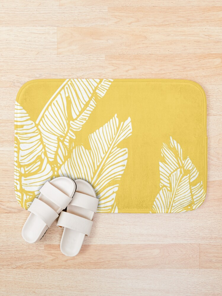 Alternate view of Banana Leaves on Yellow Bath Mat