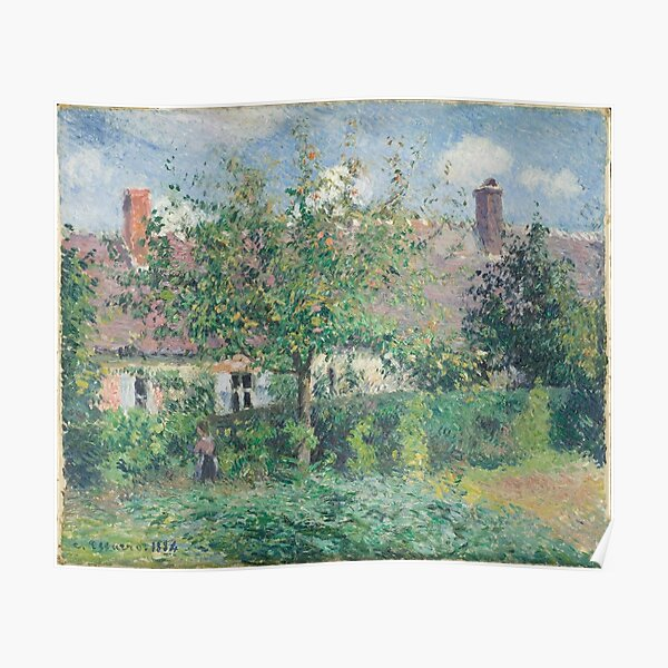 Camille Pissarro - Peasant House at Eragny Poster