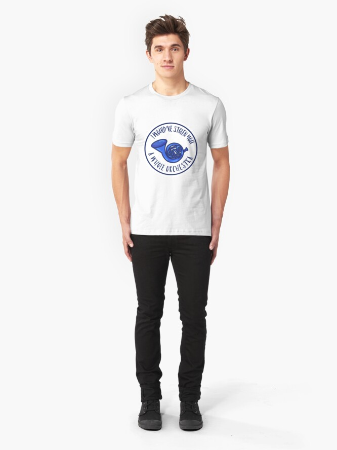 Alternative Ansicht von Blaues Waldhorn Slim Fit T-Shirt