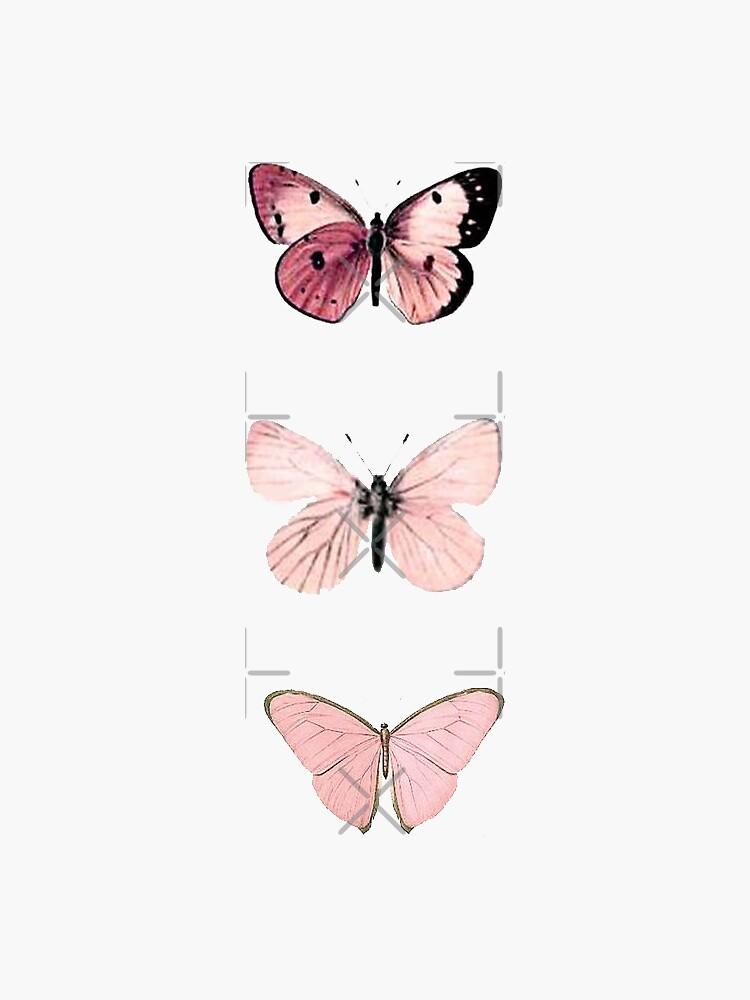 Pink Butterflies by haleyerin