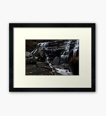 Lower cascades of Issaqueena Falls Framed Print