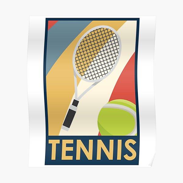 Design rétro de tennis Poster