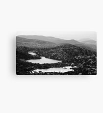 View along Tarn Shelf Canvas Print